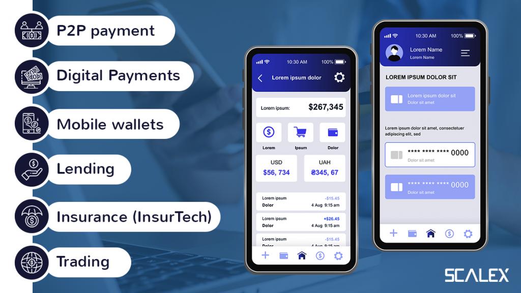Types of fintech apps